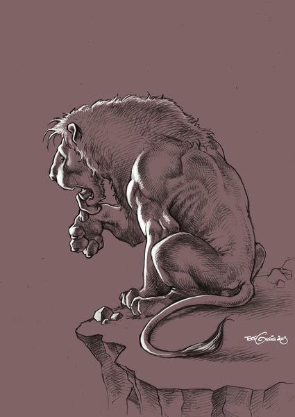 Löwe, Zeichnung, Bleistiftzeichnung, Zeichnungen