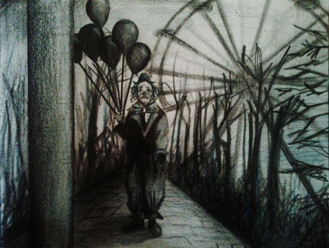 Clown, Malerei