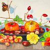 Acrylmalerei, Früchte, Stillleben, Herbst