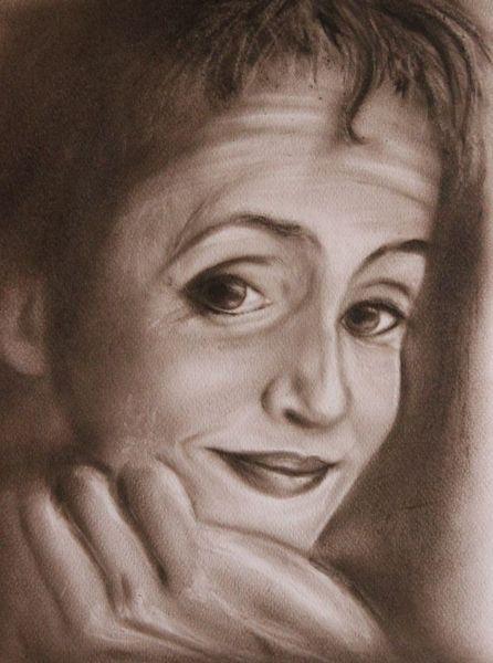 Schwarz weiß, Frau, Dry brush, Portrait, Monochrom, Gelassenheit