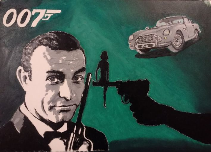 James bond, Film, 007, Malerei, Portrait