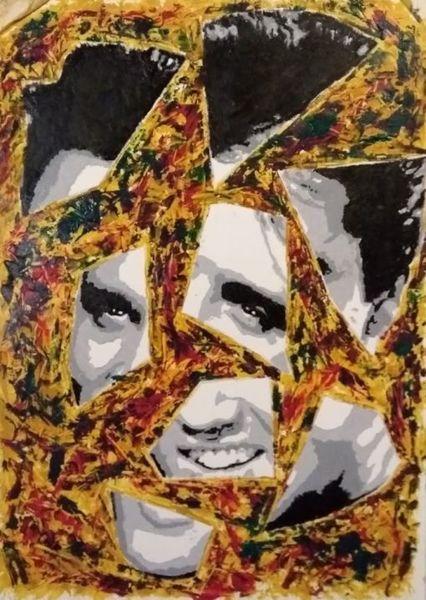 Elvis presley, Portrait, Malerei