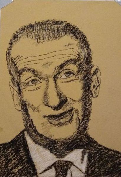 Louis de funes, Schauspieler, Frankreich, Malerei