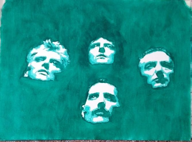 Queen, Brian may, Freddie mercury, Malerei