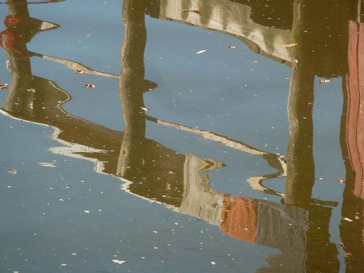 Teich, Bootshaus, Wasser, Spiegelung, Fotografie
