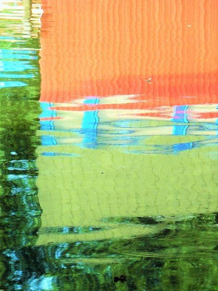 Spiegelung, Bootshaus, Farben, Wasser, Fotografie