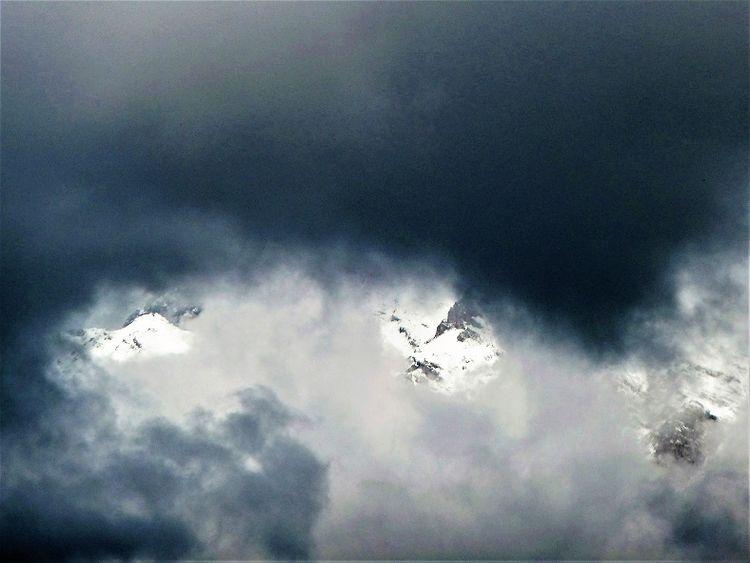 Berge, Schnee, Wetter, Wolken, Fotografie
