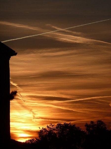 Landschaft, Himmel, Morgen, Baum, Licht, Architektur
