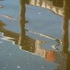 Bootshaus, Wasser, Spiegelung, Teich