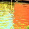 Spiegelung, Licht, Farben, Wasser