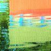 Bootshaus, Farben, Wasser, Spiegelung
