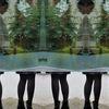 Frau, Surreal, Schaufenster, Spiegelung