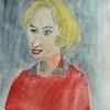 Portrait, Aquarellmalerei, Menschen, Frau