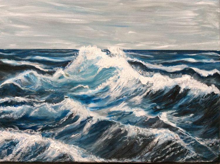 Wasser, Welle, Meer, Malerei