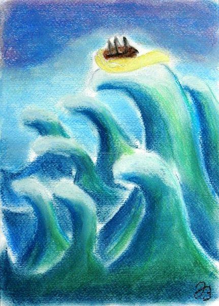 Schiff, Licht, Sturm, Gefahr, Welle, Angst