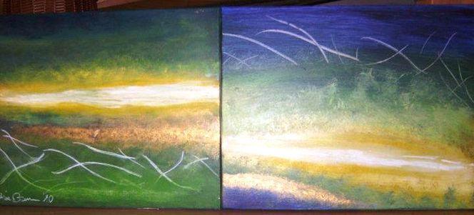 Kräftig, Meditation, Abstrakt, Abstrakte kunst, Naturgewaltig, Malerei