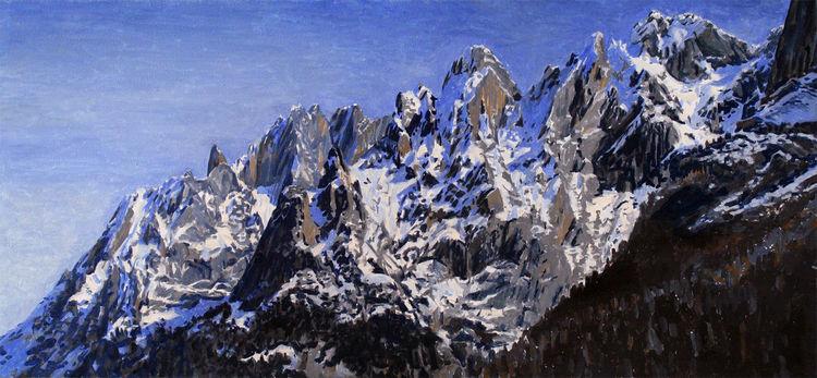 Schnee, Engelhörner, Berge, Schwarzwaldalp, Engelhorn, Malerei