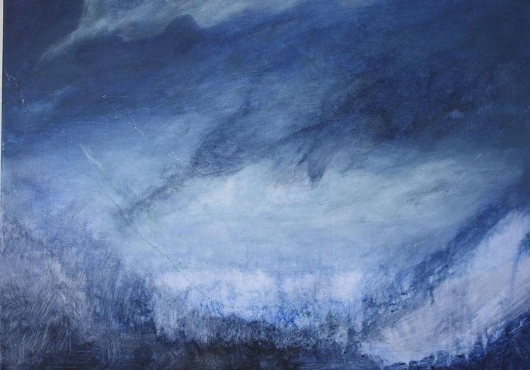 Blau, Wolken, Licht, Weite, Malerei
