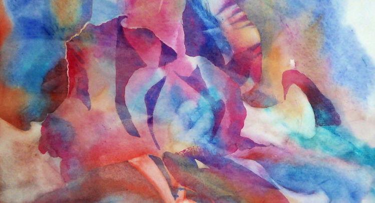 Abstrakt, Aquarellmalerei, Aquarell