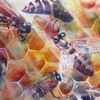Biene, Bienenstock, Bees at work, Aquarellmalerei