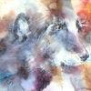 Seele, Aquarellmalerei, Hund, Portrait