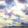 Himmel, Aquarellmalerei, Aquarell,