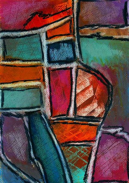 Dunkel, Orange, Blau, Pastellmalerei, Türkis, Weiß