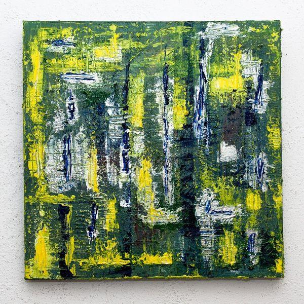 Acrylmalerei, Malerei, Abstrakt, Silber