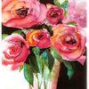 Rose, Aquarellmalerei, Stillleben, Aquarell