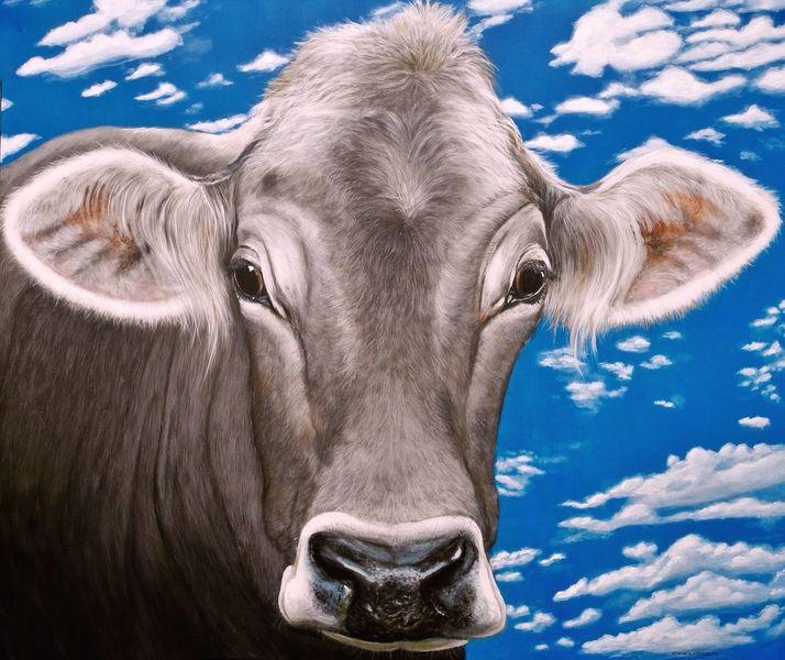 Kuh, Tiroler grauvieh, Malerei