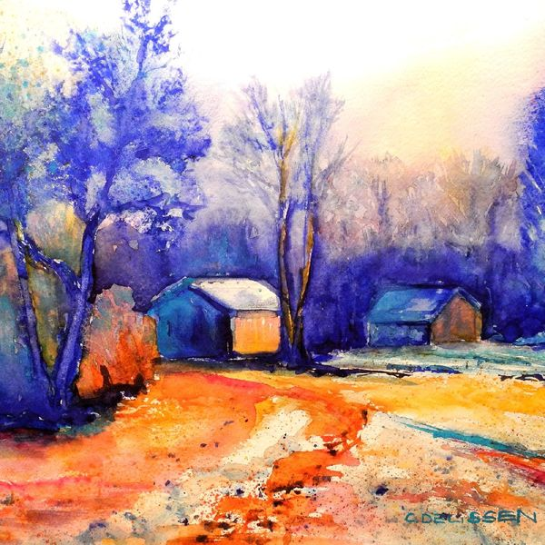 Aquarell, Winter