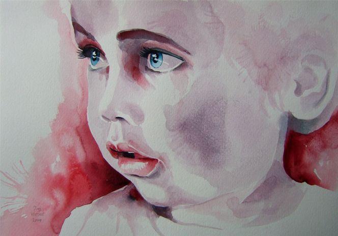 Niedliches kind, Portrait, Kinderportrait, Malerei, Menschen,