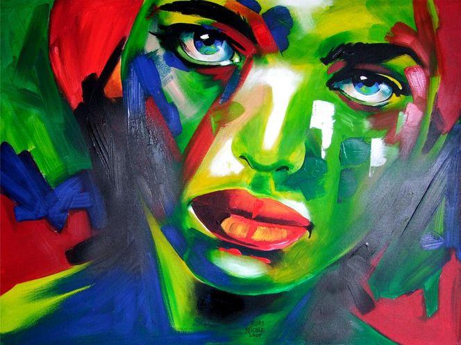 Candyart, Portrait, Acrylmalerei, Acrylportrait, Malerei,