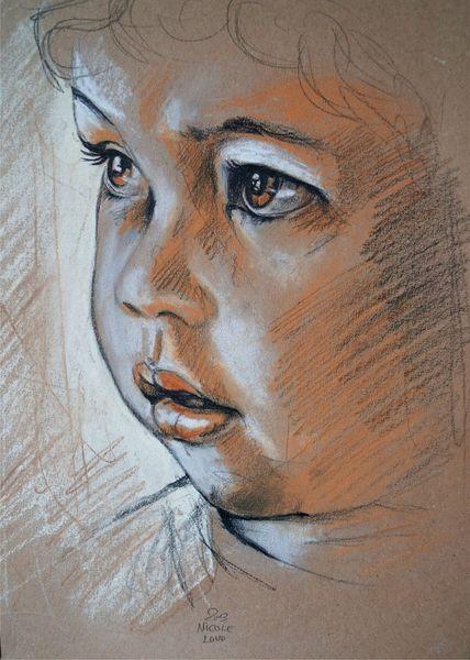 Pastellskizze, Pastellmalerei, Skizze, Zeichnungen,