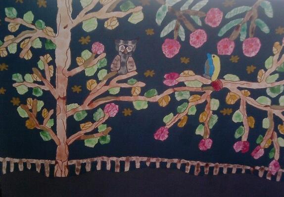 Acrylmalerei, Naive malerei, Malerei, Dämmerung