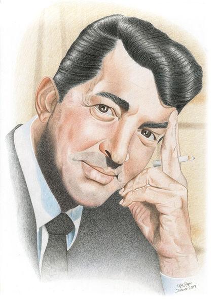 Sänger, Schauspieler, Zeichnungen, Portrait