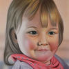 Kind, Portrait, Airbrush, Malerei