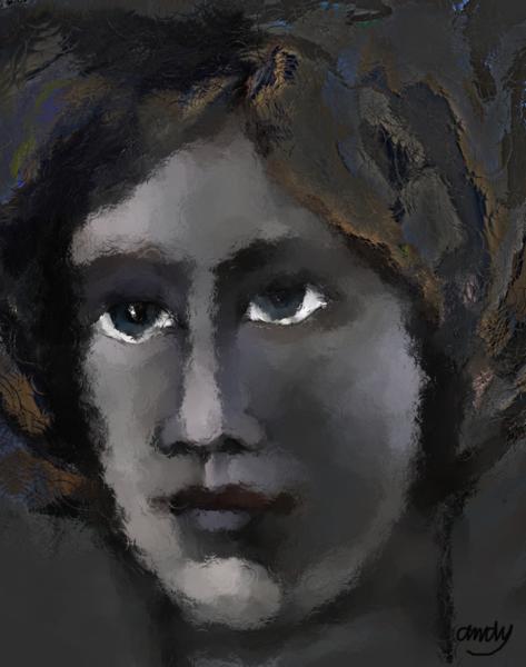 Digitale kunst modern, Digital, Portrait, Digitale kunst, Junge, Frau