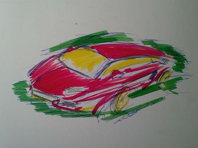 Rennwagen, Design, Auto, Malerei