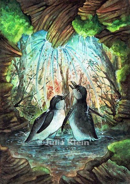 Pinguin, Wasser, Vogel, Cartoon, Neuseeland, Kinderbuch