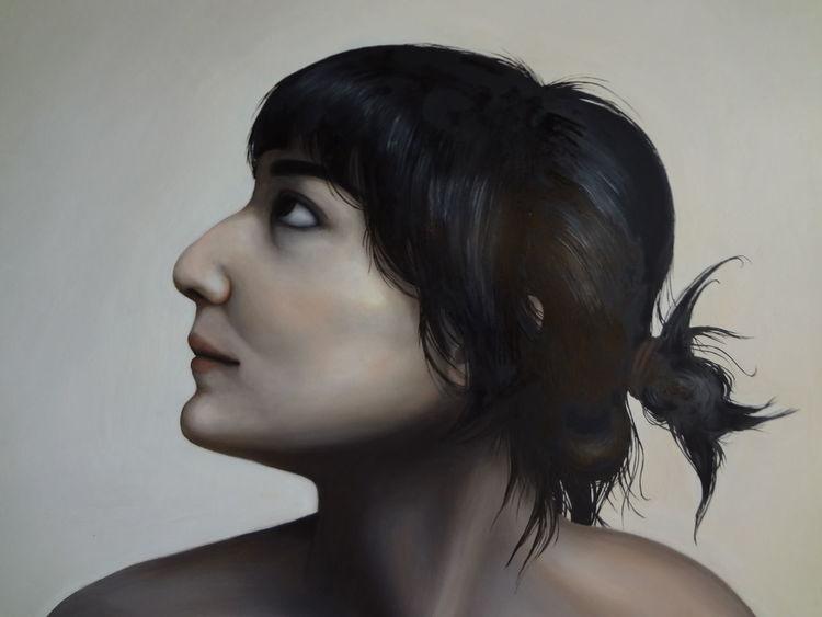 Frau, Akt, Ölmalerei, Malerei
