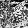 Tusche, Nacht, Landschaft, Zeichnung