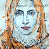 Angst, Aquarellmalerei, Porträtmalerei, Gesicht