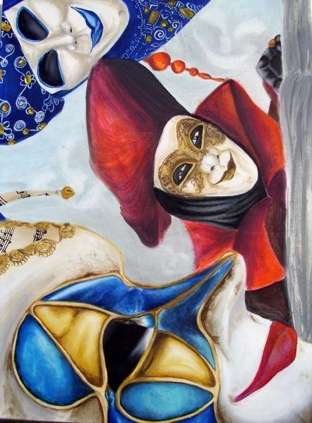 Malerei, Maske, Karneval, Maskerade