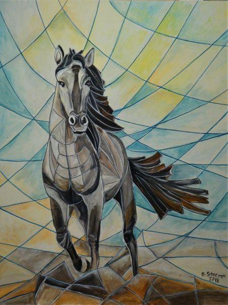 Freiheit, Bewegung, Pferde, Malerei