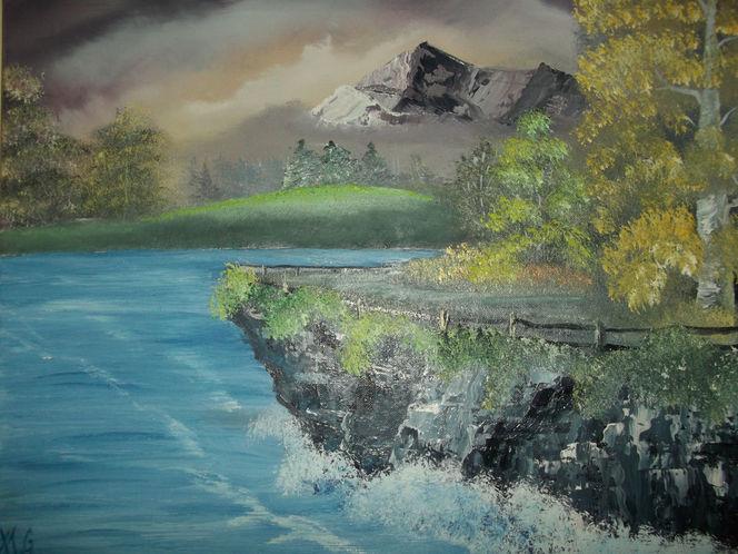 Wasser, Ölmalerei, Malerei, See,