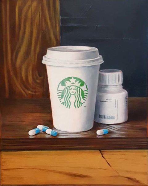 Starbucks, Falten, Stillleben, Bächer, Engel, Linie