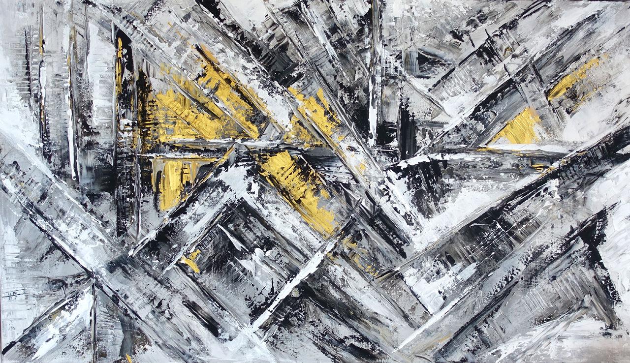 abstrakte malerei grau wei gold gem lde abstrakt grau acrylmalerei von burgstallers art. Black Bedroom Furniture Sets. Home Design Ideas