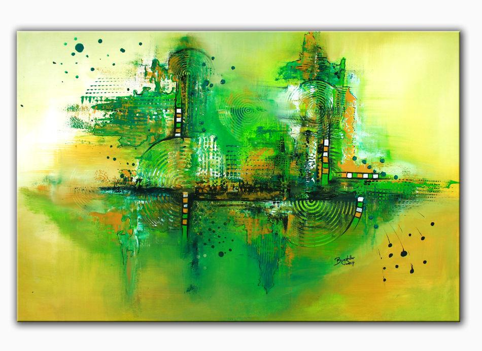 greenworld abstrakte kunst wandbilder moderne kunst malerei von alex b bei kunstnet. Black Bedroom Furniture Sets. Home Design Ideas
