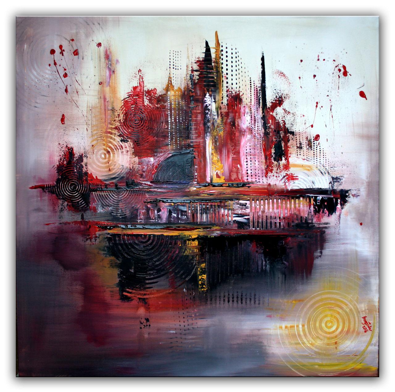 bild gem lde abstrakt rot malerei von alex b bei kunstnet. Black Bedroom Furniture Sets. Home Design Ideas